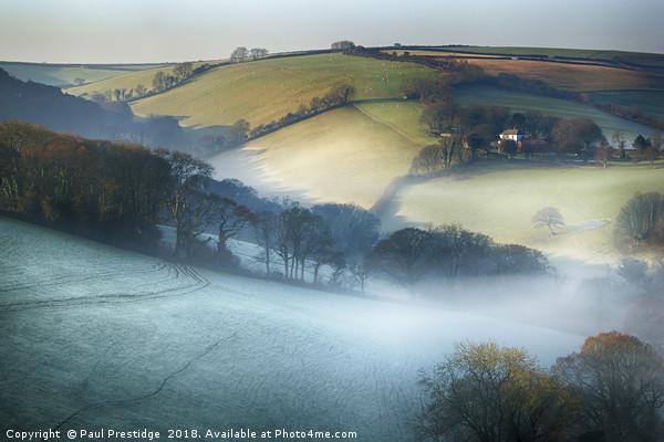 Misty Devon Valley Canvas print by Paul Prestidge