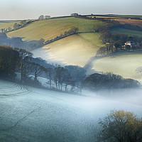 Buy canvas prints of Misty Devon Valley by Paul Prestidge