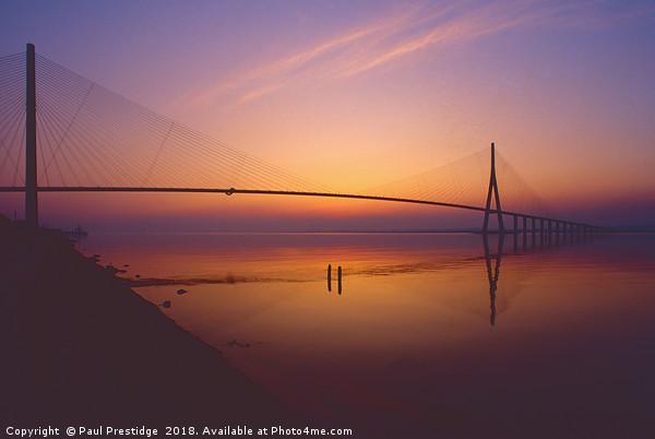 The Pont De Normandie, France Canvas print by Paul Prestidge