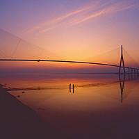 Buy canvas prints of The Pont De Normandie, France by Paul Prestidge
