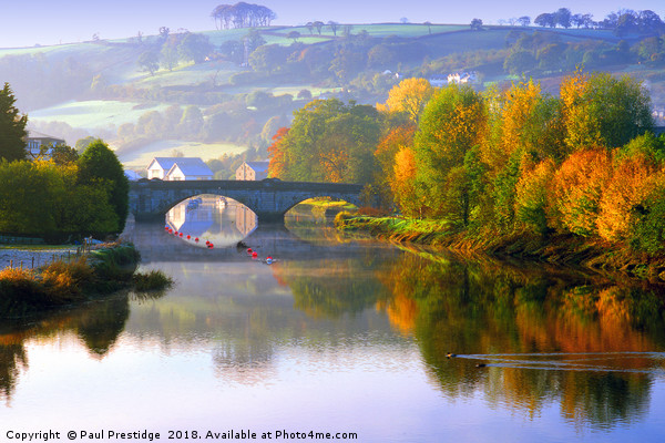River Dart at Totnes in Autumn Canvas print by Paul Prestidge