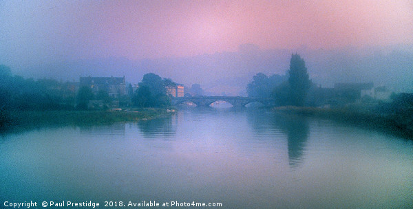 Totnes Bridge in the Mist Canvas print by Paul Prestidge