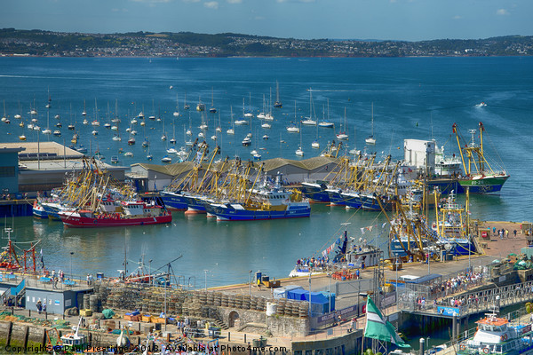 Brixham Harbour after the Trawler Race Canvas print by Paul Prestidge