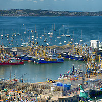 Buy canvas prints of Brixham Harbour after the Trawler Race by Paul Prestidge