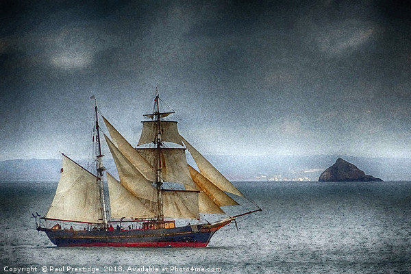 The Tres Hombres in Torbay (textured) Canvas print by Paul Prestidge