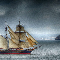 Buy canvas prints of     The Tres Hombres in Torbay (textured) by Paul Prestidge