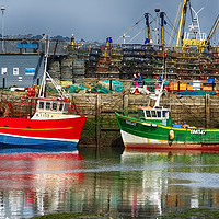 Buy canvas prints of Fishing Boats in Brixham Harbour                   by Paul Prestidge