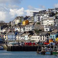 Buy canvas prints of Brixham Harbourside by Paul Prestidge