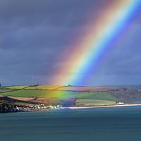 Buy canvas prints of Rainbow over Beesands by Paul F Prestidge