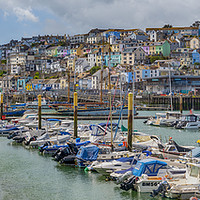 Buy canvas prints of Brixham Marina and Harbour Panorama by Paul F Prestidge