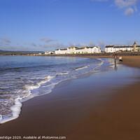 Buy canvas prints of Exmouth Beach in March by Paul F Prestidge