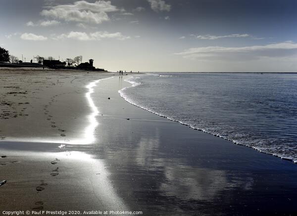 Exmouth Beach in the Morning Canvas Print by Paul F Prestidge