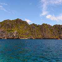 Buy canvas prints of A cliff near Shimizu Island by Marco Bicci