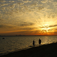 Buy canvas prints of Solent Sunset by Art G