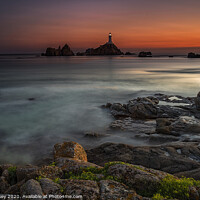 Buy canvas prints of Le Corbiere Lighthouse Island of Jersey by Nick Lukey