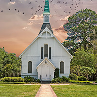 Buy canvas prints of Path to Chapel by Darryl Brooks