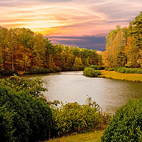 Buy canvas prints of Autumn Lake by Darryl Brooks