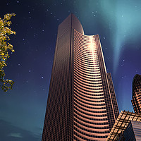 Buy canvas prints of Northern Lights from Seattle by Darryl Brooks
