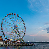 Buy canvas prints of Great Wheel at Dusk by Darryl Brooks