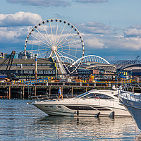 Buy canvas prints of Cruising Past the Wheel by Darryl Brooks