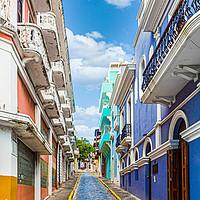 Buy canvas prints of Cobblestone Street in Old San Juan by Darryl Brooks
