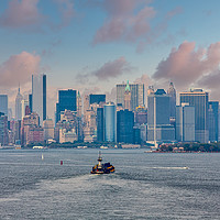 Buy canvas prints of Industrial Ships Moving Toward New York City by Darryl Brooks
