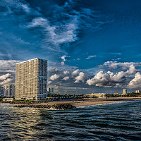 Buy canvas prints of Modern Condos on Fort Lauderdale Beach by Darryl Brooks