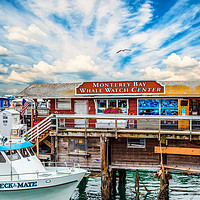 Buy canvas prints of Monterey Bay Whale Watching Center by Darryl Brooks