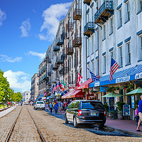 Buy canvas prints of Nice Day on River Street by Darryl Brooks