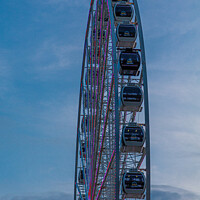 Buy canvas prints of Seattle Great Wheel From Side by Darryl Brooks