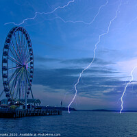 Buy canvas prints of Wheel and LIghtning by Darryl Brooks