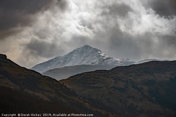 Snow Capped Highlands Canvas print by Derek Hickey
