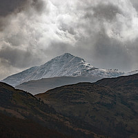 Buy canvas prints of Snow Capped Highlands by Derek Hickey