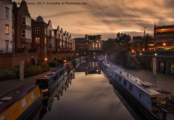 The Canals of Birmingham Canvas print by Jon Jones