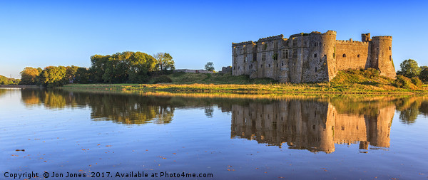 Carew in Pembrokeshire, Wales Canvas print by Jon Jones