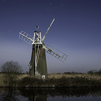 Buy canvas prints of Norfolk windpump by Robert Hook