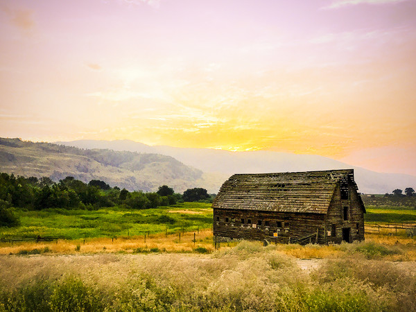 Farm House Okanagan British Columbia Canada Summer Canvas print by Amyn Nasser