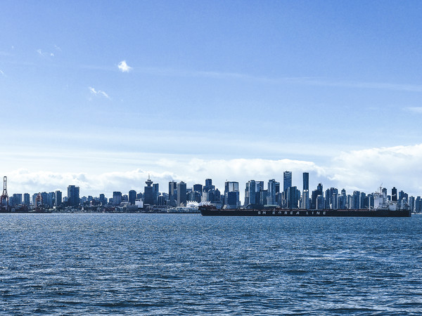 City of Vancouver from the North Shore Framed Print by Amyn Nasser