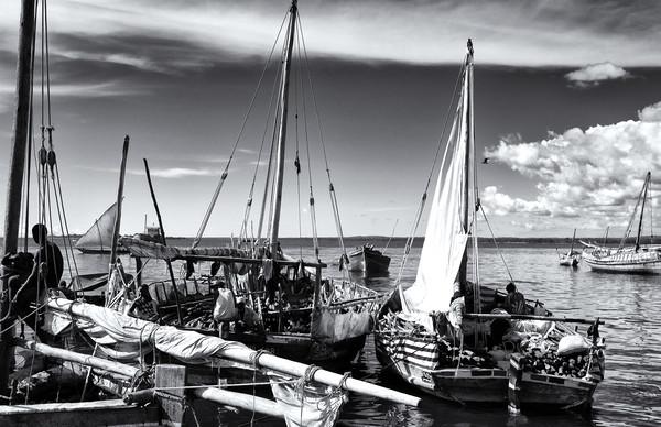 Stone Town Port Zanzibar Framed Print by Amyn Nasser