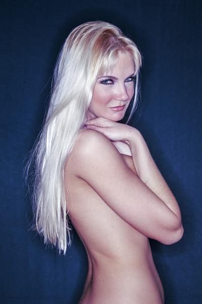 Intimita Carissima   Blonde Girl Nude Canvas Print by AMYN NASSER