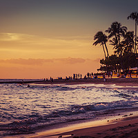 Buy canvas prints of Sunset Moment in Hawaii 0015 by AMYN NASSER