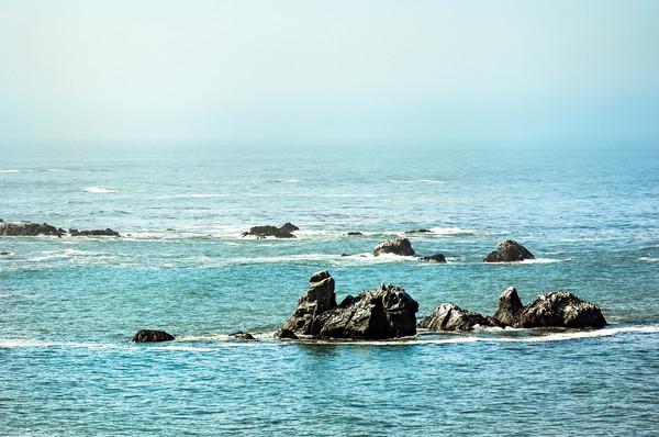Oregon Pacific Coast 0593 Framed Print by AMYN NASSER