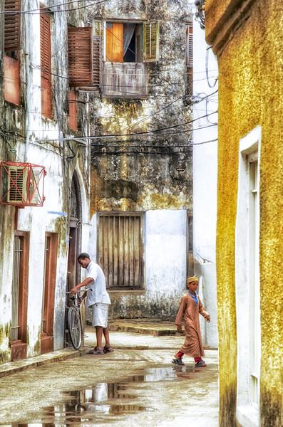 Lifestyle - Stonetown Zanzibar Tanzania 3618 East  Framed Print by AMYN NASSER