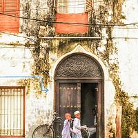 Buy canvas prints of Kids walking Stonetown Zanzibar 3620 Tanzania East by AMYN NASSER