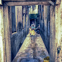 Buy canvas prints of Children Playing - Stonetown Zanzibar 3665 Africa by AMYN NASSER