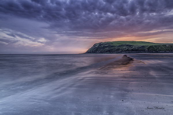 St Bees Beach at Sunset Canvas print by james marsden