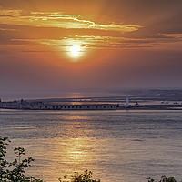 Buy canvas prints of Sunset at Hurst Point Castle lighthouse by james marsden