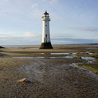 Buy canvas prints of       New Brighton Lighthouse ,Merseyside. UK.     by Alexander Pemberton
