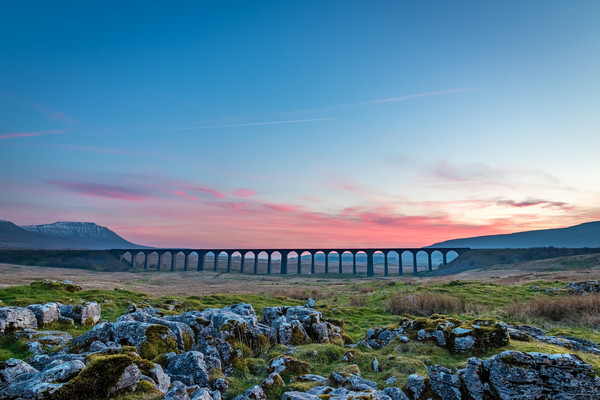 Ribblehead Sunset Canvas Print by Nigel Smith