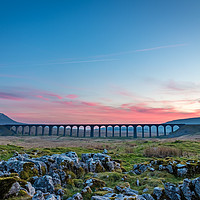 Buy canvas prints of Ribblehead Sunset by Nigel Smith